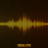 Digital equalizer yellow technology background. Illustartion of digital equalizer yellow concept eps 10 Stock Photo