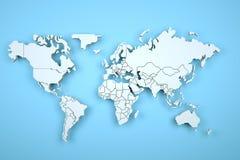 Digital-Erde in der Bewegung Nette Wiedergabe 3D Stockbild