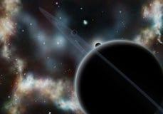 Digital erstelltes starfield mit kosmischem Nebelfleck Lizenzfreie Stockfotos