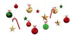Digital erzeugte hängende Weihnachtsdekorationen Lizenzfreie Stockfotografie