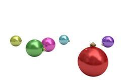 Digital erzeugter bunter Weihnachtsflitter Lizenzfreies Stockfoto