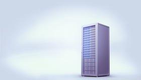 Digital erzeugter grauer Serverturm Stockfoto
