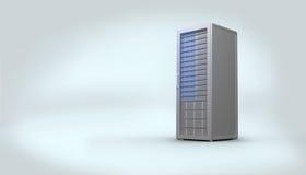 Digital erzeugter grauer Serverturm Lizenzfreies Stockbild