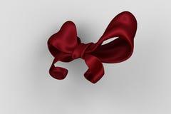 Digital erzeugter roter glänzender Bogen Stockbild