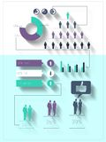 Digital erzeugtes blaues und purpurrotes Geschäft infographic Lizenzfreies Stockbild
