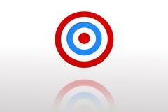 Digital erzeugtes blaues und rotes Ziel Stockfoto