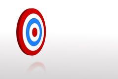 Digital erzeugtes blaues und rotes Ziel Stockfotos