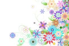 Digital erzeugtes girly Blumenmuster Stockfotografie