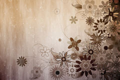 Digital erzeugtes girly Blumenmuster Lizenzfreies Stockfoto