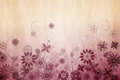 Digital erzeugtes girly Blumenmuster Stockfoto