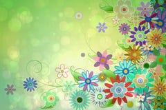 Digital erzeugtes girly Blumenmuster Lizenzfreie Stockfotos