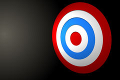Digital erzeugtes rotes und blaues Ziel Stockfoto