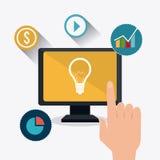 Digital et stratégies marketing sociales Photos stock