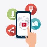 Digital et stratégies marketing sociales Photographie stock libre de droits