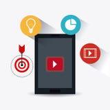 Digital et stratégies marketing sociales Image stock