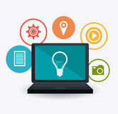 Digital et stratégies marketing sociales Photographie stock