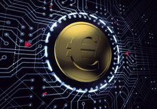 Digital Euro Currency Royalty Free Stock Photography