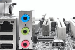 Digital extension: motherboard sockets Royalty Free Stock Images