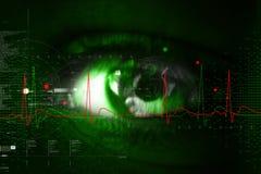Digital eye. Digital illustration of an eye scan as concept for secure digital identity Stock Photography