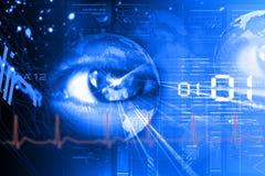 Digital eye. Digital illustration of an eye scan as concept for secure digital identity Stock Image