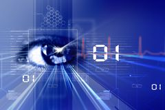 Digital eye. Digital illustration of an eye scan as concept for secure digital identity Stock Photography