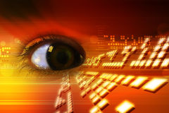 Digital eye Royalty Free Stock Photo