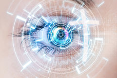 Digital eye and cross Stock Images