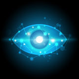 Digital eye technology. Vector digital eye technology network Royalty Free Stock Photo