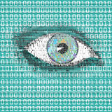 Digital Eye Watch Royalty Free Stock Photo