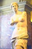 Digital förändrad bild av statyn av Venus de Milo (aphroditen), Grekland på Louvremuseet, Paris, Frankrike Royaltyfria Foton