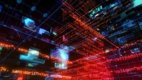 Digital för data för teknologimanöverenhetsdator skärm stock video