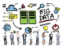 Digital för stora data för mångfaldaffärsfolk företags begrepp Arkivbild