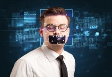 Digital Face Recognition System. Concept royalty free stock photos