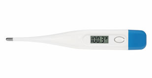Digital Fahrenheit Thermometer royalty free stock photography