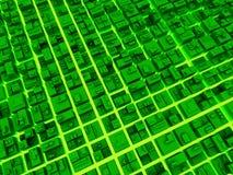 Digital-fantastische Großstadt Stockfotos