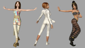 Digital Fantasy Characters Stock Photography