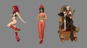 Digital Fantasy Characters vector illustration