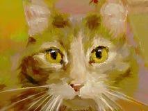 digital feline målning Arkivbilder