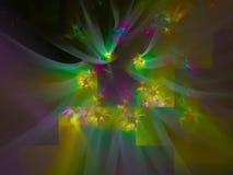 Digital festlig fantasi för abstrakt kurva för fractalgarneringflamma, dynamisk magisk digital framtida design för flöde, disko stock illustrationer