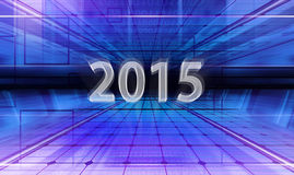 Digital figures 2015. Technology background with transparent figures 2015 for New Year Royalty Free Stock Photo
