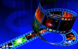 Digital film background Stock Images