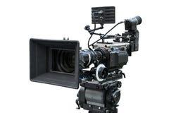 Digital-Filmkamera lokalisiert auf Weiß Lizenzfreies Stockfoto