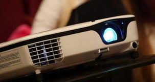 Digital filmprojektor Lens stock video