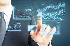 Digital finance report Stock Photography