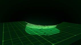 Digital finger touching fingerprint scanner vector illustration