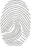 Digital-Fingerabdruck - gebildet mit Zahlen!!! Stockbild