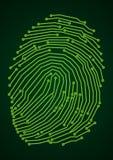 Digital fingerprint. Circuit board style finger print Stock Image