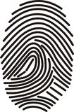 Digital fingerprint Stock Photos