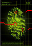 Digital fingerprint royalty free illustration
