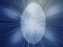 Digital fingerprint. Biometric security indentifaction, graphic illustration Royalty Free Stock Photos